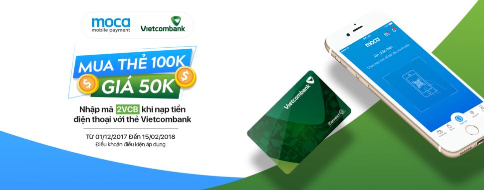 DÀNH RIÊNG CHO CHỦ THẺ VIETCOMBANK – GIẢM NGAY 50K KHI NẠP TIỀN ĐIỆN THOẠI