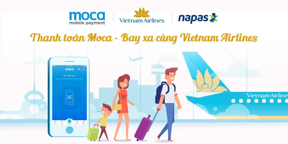 Thanh toán Moca – Bay xa cùng Vietnam Airlines