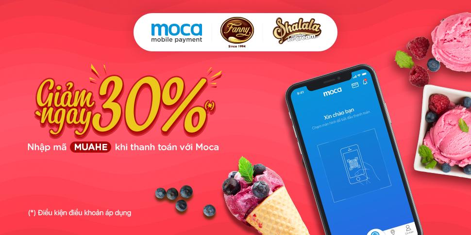Thanh toán Moca – Giảm giá mùa hè