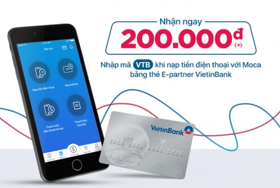 Gắn thẻ VietinBank - Nạp tiền điện thoại thật nhanh