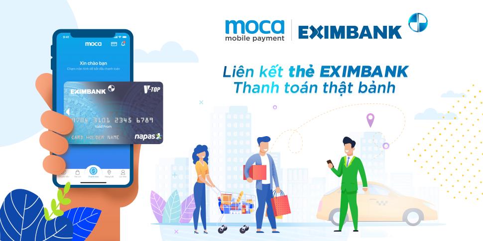Liên kết thẻ Eximbank – Thanh toán thật bảnh