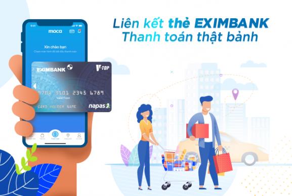 Liên kết thẻ Eximbank - Thanh toán thật bảnh